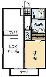 ホームパーティ IV[202号室]の間取り