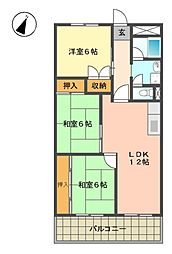 第一マンダイマンション[3階]の間取り