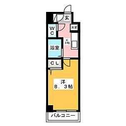 ルミノスコート[5階]の間取り