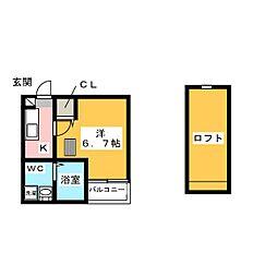 シガースN[1階]の間取り