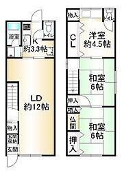 JR東海道・山陽本線 新長田駅 徒歩6分 3LDKの間取り