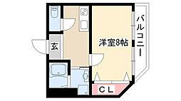 愛知県名古屋市昭和区隼人町6丁目の賃貸マンションの間取り