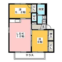 サントソラル[1階]の間取り
