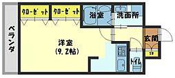 アドバンテージ守口[3階]の間取り