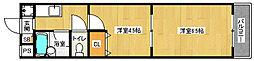 京都府京都市南区西九条豊田町の賃貸マンションの間取り