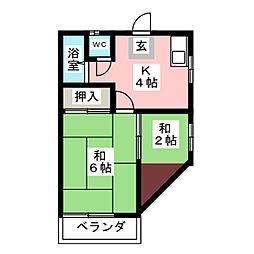 小沢アパート[2階]の間取り