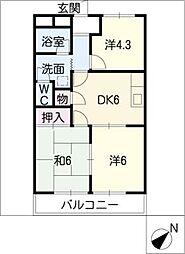 ハイツオータム[1階]の間取り