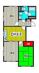 西川口藤ハイツ[3階]の間取り
