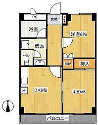 相武ハイツ[3階]の間取り