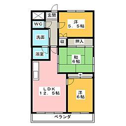 マンション フォレスト[1階]の間取り