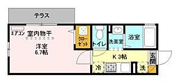 千葉県浦安市猫実2丁目の賃貸アパートの間取り