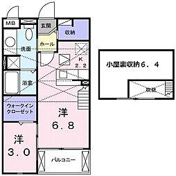 ウィッシュ[2階]の間取り