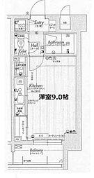ラナップスクエア福島II[9階]の間取り
