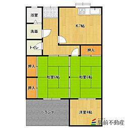 ひばり荘アパート[6号室]の間取り