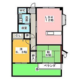ハイステージ志都呂館II[1階]の間取り