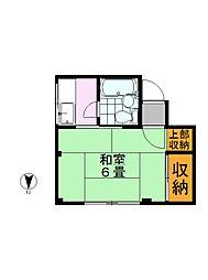 ニュー江戸洗マンション[201号室]の間取り