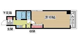 ネオアージュ神戸元町[502号室]の間取り