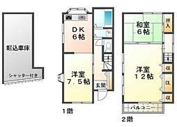 [一戸建] 兵庫県神戸市垂水区旭が丘3丁目 の賃貸【/】の間取り