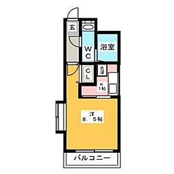 ピュアドーム博多ファインビュー[7階]の間取り