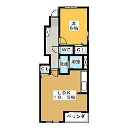 アンセリウム B[1階]の間取り