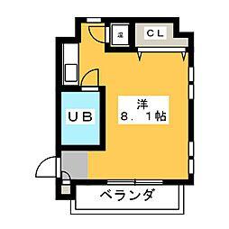 KJビル佐藤[2階]の間取り