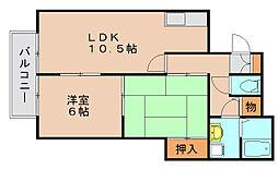 エレガント鬼塚VI[1階]の間取り