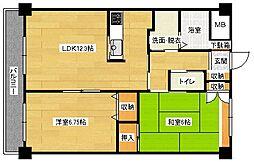 ミニヨンフルールAWA[202号室]の間取り