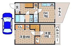 [テラスハウス] 兵庫県神戸市須磨区妙法寺池ノ内 の賃貸【/】の間取り