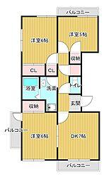 ライトアップ萩丘1番館[2階]の間取り