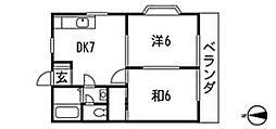 エクセレンス尾崎B[2階]の間取り