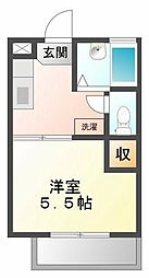 ソレイユ綾羽[2階]の間取り