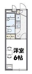 小田急小田原線 鶴川駅 バス12分 五反田下車 徒歩2分の賃貸マンション 1階1Kの間取り