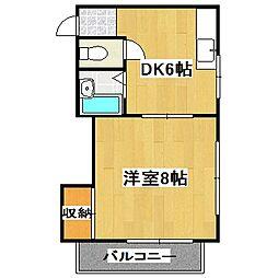 メゾン桃栄[2階]の間取り