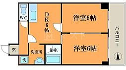 ラパンジール恵美須II[3階]の間取り