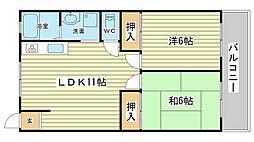 高浜BLDⅠ[302号室]の間取り