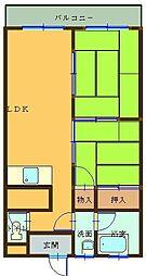 阪上第一ビル 3階2LDKの間取り