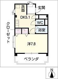 フローリア新守[3階]の間取り