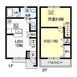 キャステルタウン ハイム III[2階]の間取り