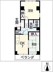 レジデンス永井[2階]の間取り