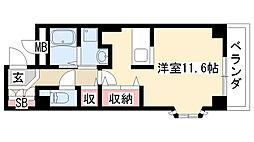 愛知県名古屋市緑区水広2丁目の賃貸アパートの間取り