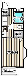 ミモザ館[2階]の間取り