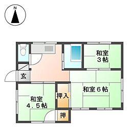[一戸建] 東京都小金井市関野町1丁目 の賃貸【/】の間取り