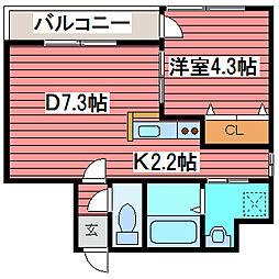 MARUKOH MS NO.1[4階]の間取り