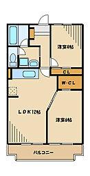 メゾンドソリジェ[3階]の間取り