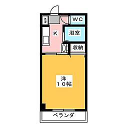 アジュール下中野[3階]の間取り