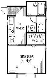 東京都板橋区常盤台3丁目の賃貸アパートの間取り