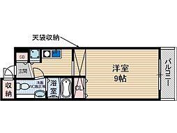 シャレー柿原[2階]の間取り