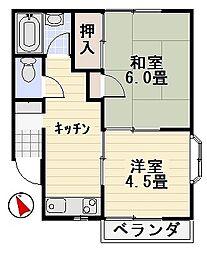 ハイツカズマ[2-C号室]の間取り