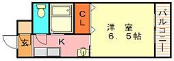 福岡県北九州市小倉北区大畠2丁目の賃貸マンションの間取り