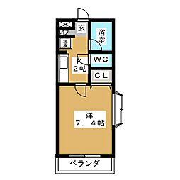 シティライフ覚王山[4階]の間取り